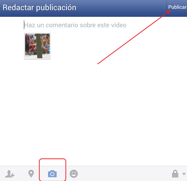 Upload Video a Facebook  Desde Android
