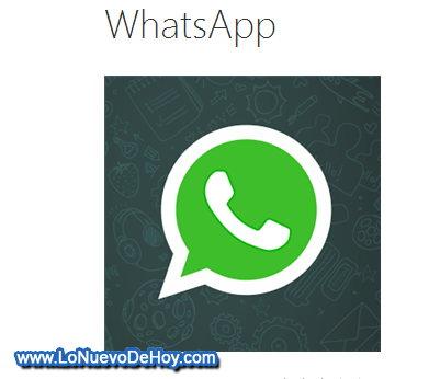 WhatsApp Messenger para Nokia Lumia