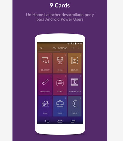 9 Cards Home Launcher