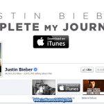 Pagina oficial de Justin Bieber en Facebook