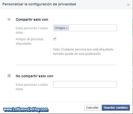Agregar personazas en personalizado Facebook
