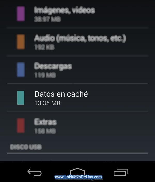 Borrar cache en Android Kitkat