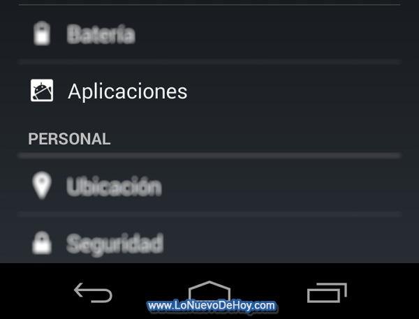 Configuracion Android 4.4