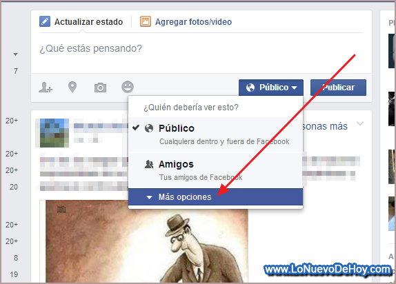 Crear una publicacion personalizada Facebook