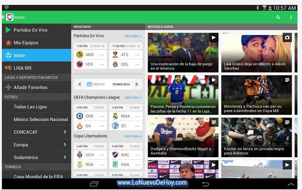 Mundial en vivo Android