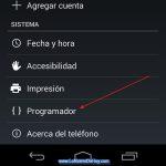 Habilitar la opción para desarrolladores en Android 4.4 KitKat