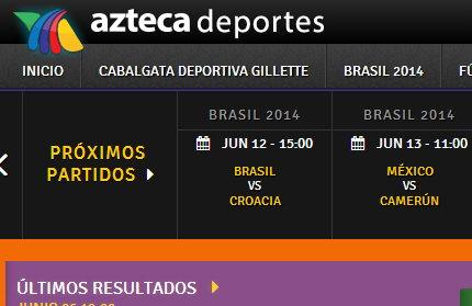 aztecadeportes Mundial brasil 2014