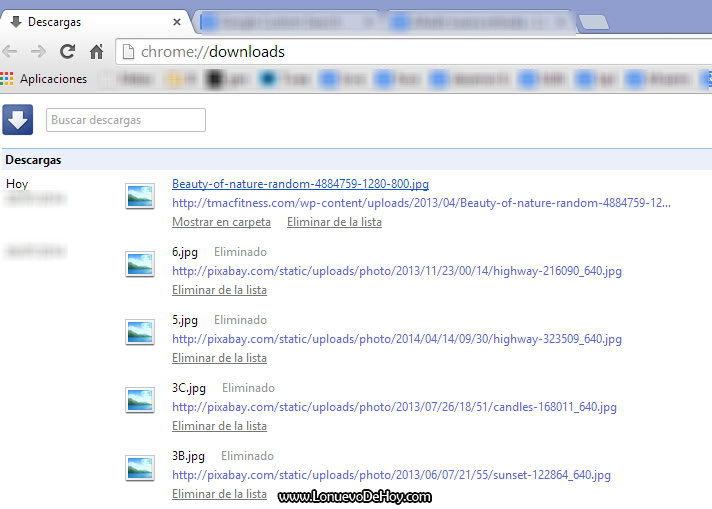Descargas en Chrome