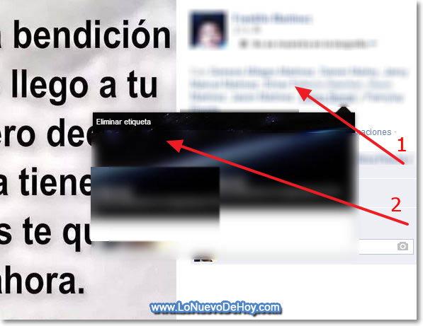 Eliminar etiquetas Facebook 2014