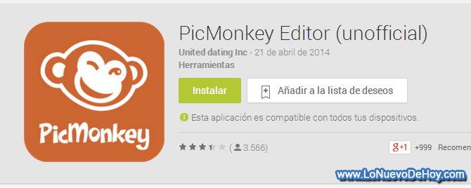 picmonkey para android lo nuevo de hoy