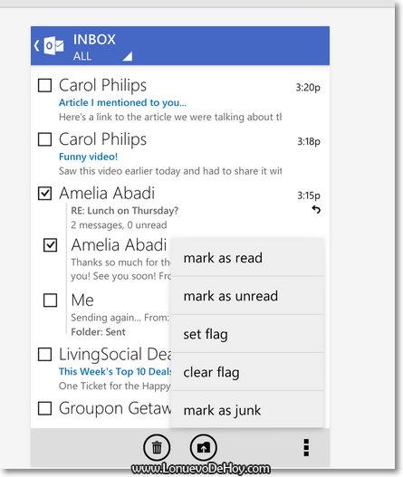 Ver correo de outlook en Android