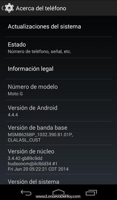 Actualizar el Moto G Paso 3