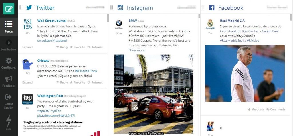 Feedient.com  Facebook, Twitter, Instagram