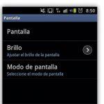 Android con Brillo Automatico