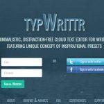 Escribir online sin distracciones con la ayuda de typwrittr