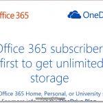 OneDrive: Espacio de almacenamiento ilimitado (Para suscriptores de Office 365)