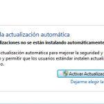 Actualizaciones de Windows desactivado