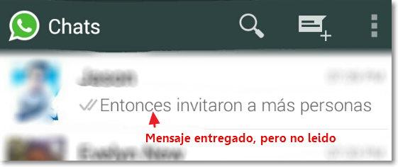 Mensaje No leido en Whatsapp