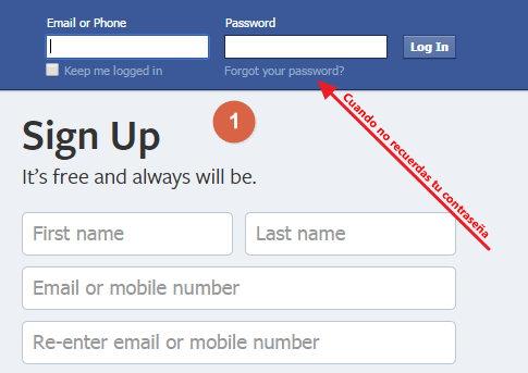 Recuperar mi facebook