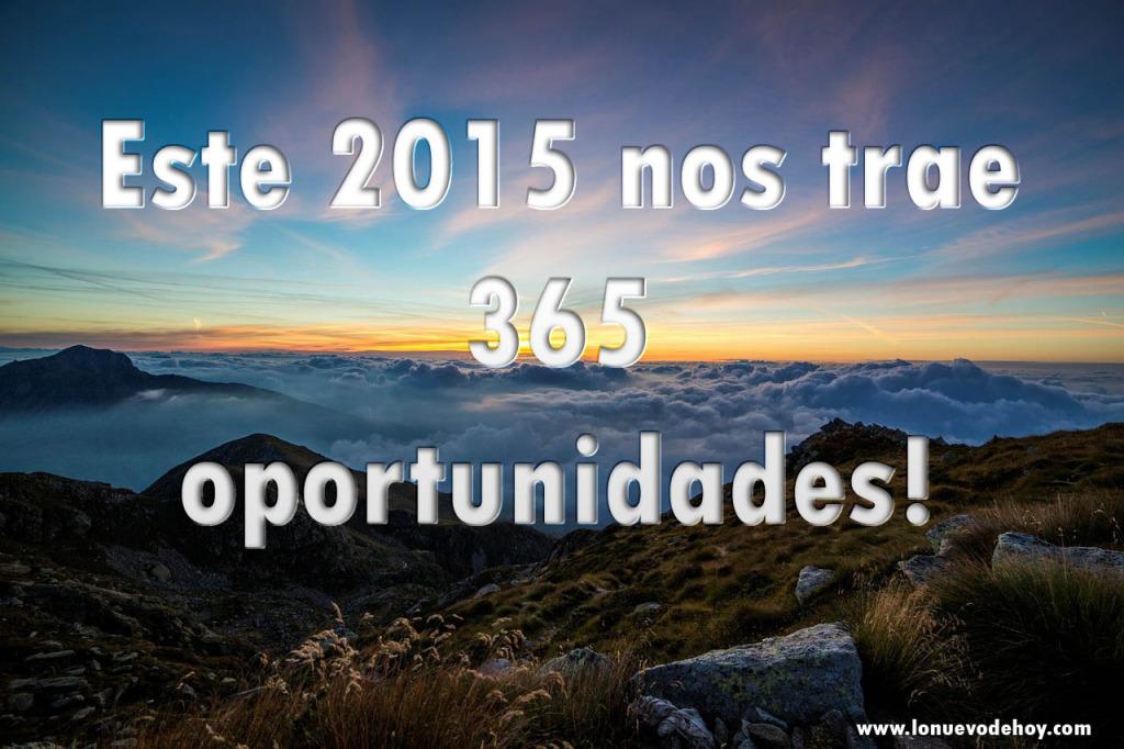 Año nuevo 365 oportunidades