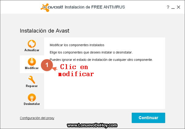 Avast 2015 NG Front End solucion