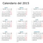 Calendario 2015 en español: Para Imprimir o Descargar