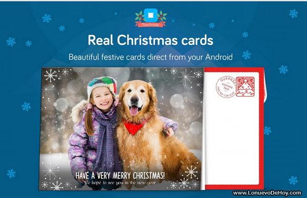 Enviar Postales de Navidad desde Android