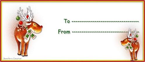 tarjetas para regalos de navidad 2