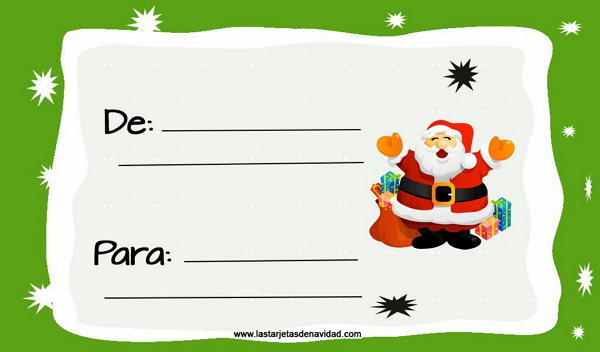 tarjetas para regalos de navidad 3