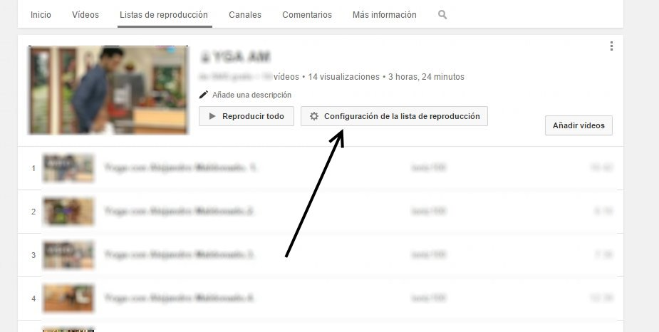 Borrar una lista de reproduccion en youtube 2