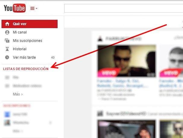 Borrar una lista de reproduccion en youtube