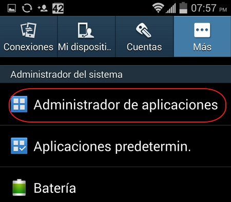 Administrar aplicaciones