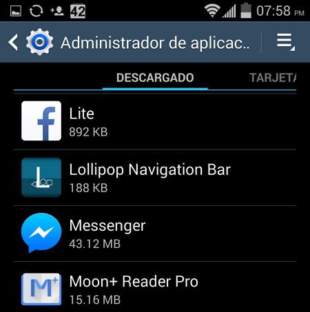 Aplicaciones Descargadas