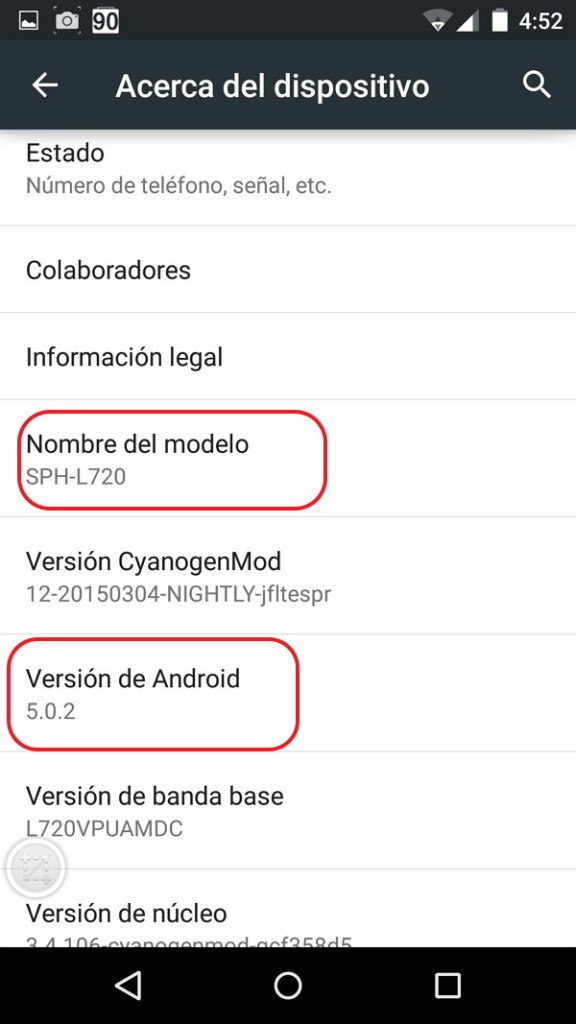 Galaxy S4 Android 5