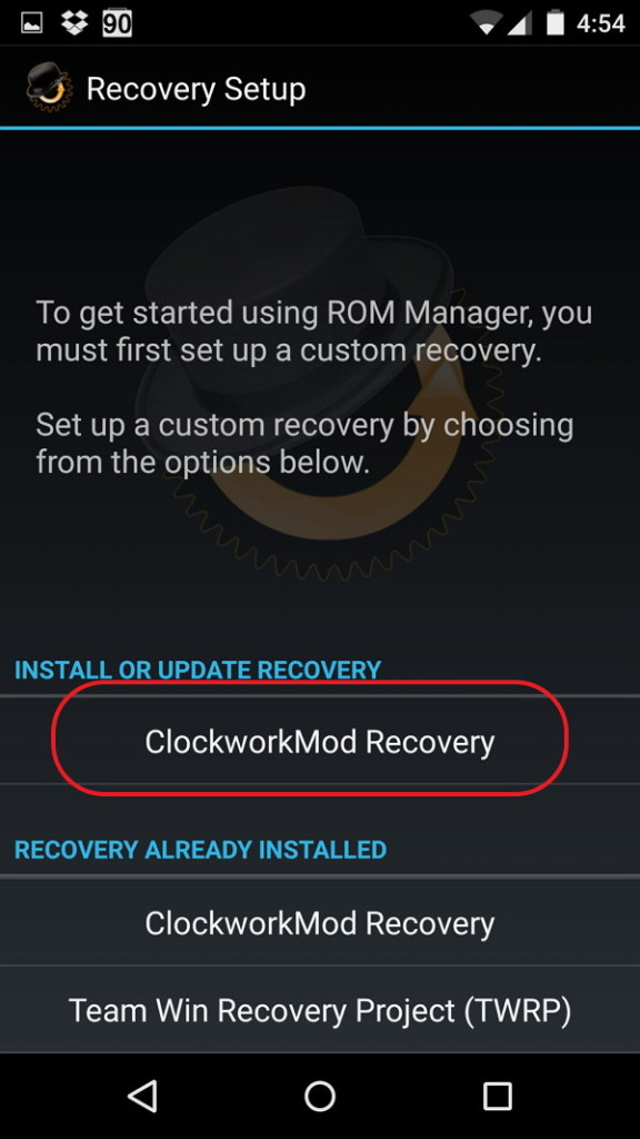 Install Recovery