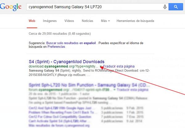 cyanogenmod Samsung Galaxy S4 LP720
