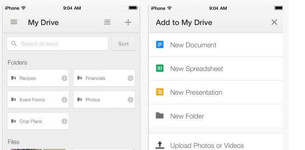 Google Drive para iphone Imagen