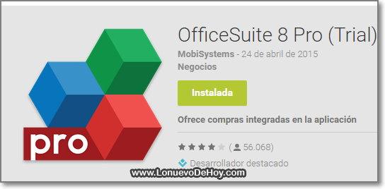 OfficeSuite 8 Pro Descargar