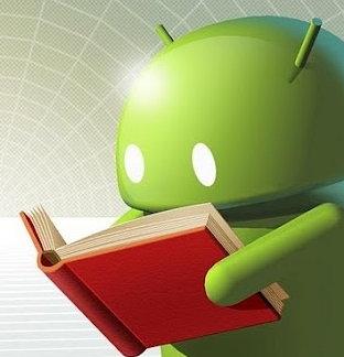 Un Android leyendo