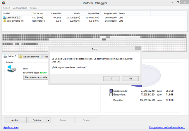 Desfragmentar SSD