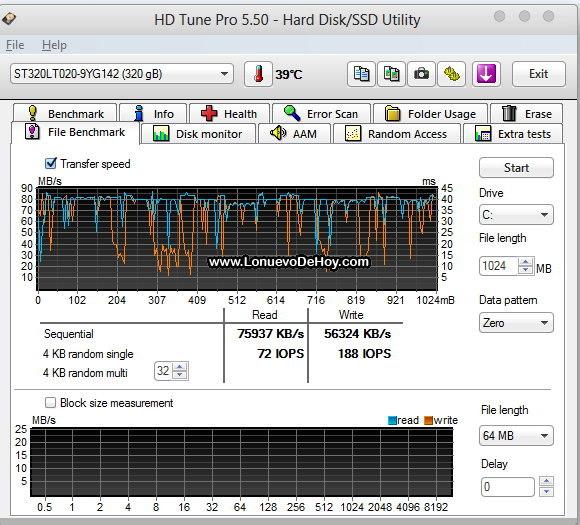 HD Antes del SSD 1 GB