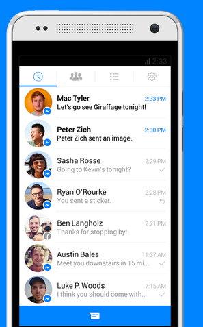 Recuperar conversaiones de messenger