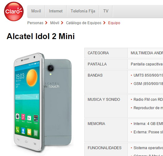 Alcatel Idol 2 Mini
