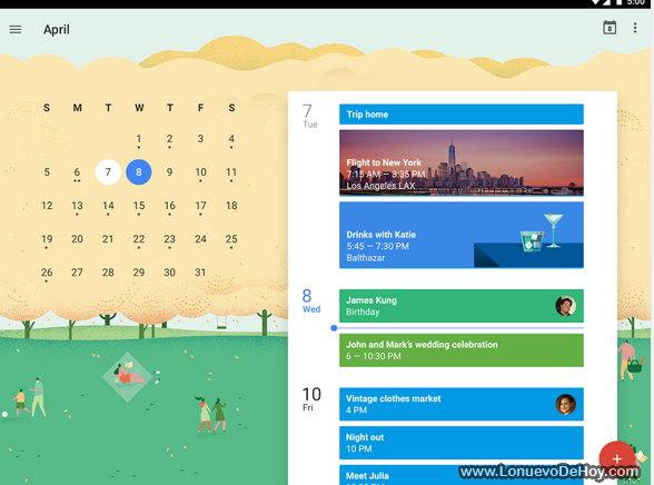 Calendarios para Android APK