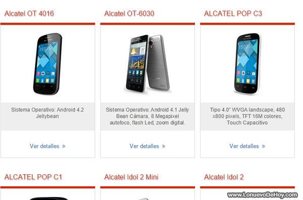 Telefonos Alcatel Claro