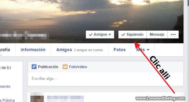 Ya no ver fotos de una persona en facebook