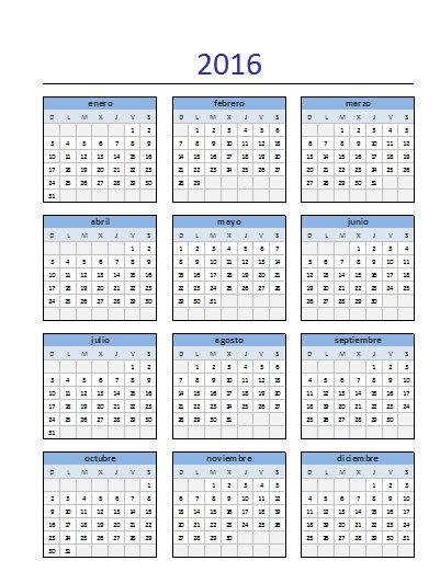 Descargar el El Calendario 2016