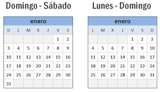 El Calendario 2016 en Excel