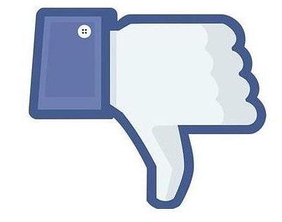 No me gusta para Facebook