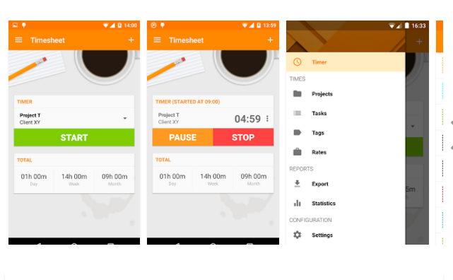 Timesheet para Android